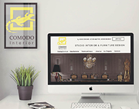 Website design for interior design studio.