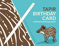 Tapir Birthday Card - Design
