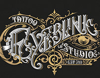 Eyeblink Tattoo Studio logo design