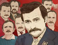 Lech Walesa Wanted - Przekroj Cover