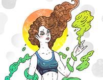 「莎拉.米克丹妮兒」人物插畫, 設計 | Sarah McDaniel