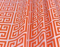 MBK Quad Key Sherbet Orange Cotton Home Fabrics