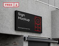 Free Sign on Building Vol.1 Mockup