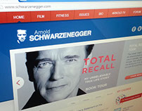 schwarzenegger.com website design and build
