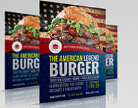 Burger Restaurant Flyer Template Vol.7