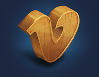 Wooden Social Network Icons