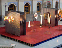 "Art-design installation in ""Seating yard"" 2001"