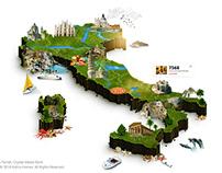 Interactive ISOMETRIC 3D Map - Creative Artwork (Italy)