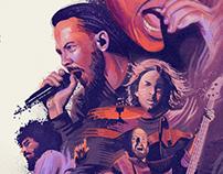 Linkin Park Concert Poster