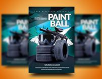 Paintball Match Event Flyer
