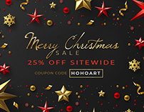 Merry Christmas Sale 2018 | 25% Off | Coupon - HOHOART