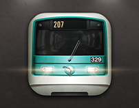 Metro de Paris iOS 7 Icon