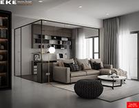 Thiết kế nội thất căn hộ Green Valley 103m2 Phú Mỹ Hưng