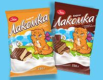Дизайна упаковки ТМ «Вафли Лакомка»