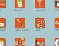 Icons for the AWP Conference & Bookfair App
