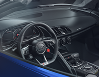 Audi R8 Spyder interior Details - Full CGI