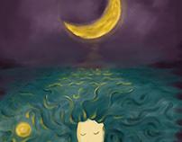 Girl under the moonlight