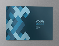 Modern Blue Pattern Brochure