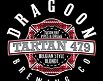 Dragoon Brew & Tucson Fire Pipes & Drums TartanAle Logo
