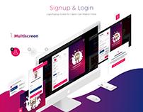 Signup & Login CGM