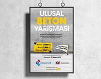 Ulusal Beton Yarışması Afiş Tasarımı