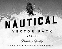 """""""Lost at Sea"""" Nautical Vector Set"""