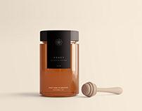 Honey Jar Package Mockup