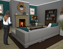 Commissioned Living Room Design
