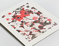 Flora Letterpress Print for The Canadianist