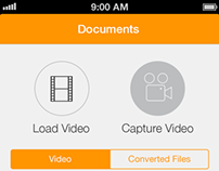 Video to Audio Converter iOS 7 Redesign