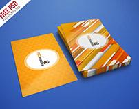 Free Mockup : Realistic Business Card Mockup PSD