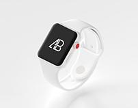 Ceramic Apple Watch Series 3 Mockup