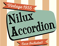 1950's style Craigslist Ad for vintage Nilux Accorion