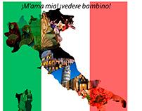 Italia Máscara De Recorte