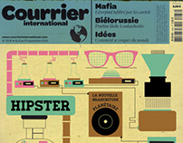 Cover Courrier International - Editorial design