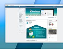 """VK Group design """"Home online"""""""