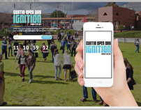 Curtin Open Day - Responsive Coming Soon Webpage