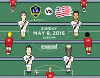 L.A. Galaxy Commemorative Match Poster 5.8.16