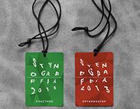 Identity of street-art festival Stenograffia-2013