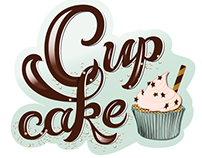 Lettering of Cupcakes and Chocolate