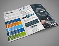 Folleto Triptico para BUDA Business Data Software