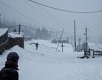 Wintertime story. Carpathian mounteine. Ukraine