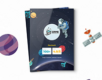 Game Experience Brochure Book Design