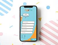 Sign up Design for Agora AR App