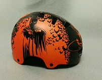 Superheroes on a Bike Helmet