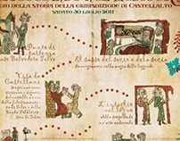 """Manifesto e pieghevole """"Passeggiando nel Medioevo"""""""