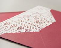 I&K wedding invitation