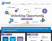 Vault Website Mockup