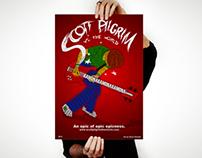 Scott Pilgrim com Tipografia