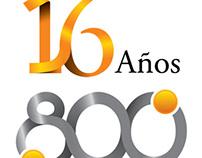 Logotipos 16 años 800 ediciones Punto a Punto